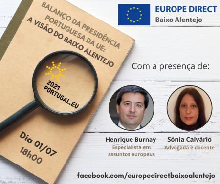 """Conferência online """"Balanço da Presidência Portuguesa da UE: A Visão do Baixo Alentejo"""""""