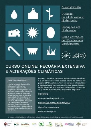 Curso online LIFE Live-Adapt: Pecuária extensiva e alterações climáticas