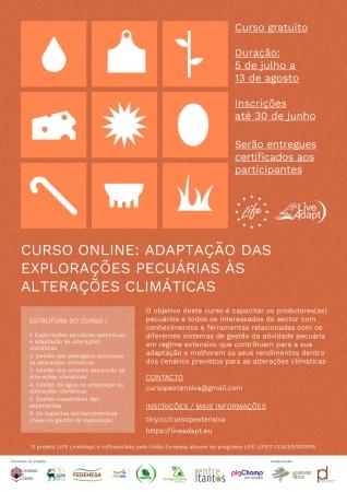 Inscrições abertas do curso 2 Life Live-Adapt | Adaptação das explorações pecuárias às alterações climáticas