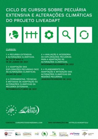 Projeto LIFE Live-Adapt: ciclo de cursos sobre pecuária extensiva e alterações climáticas