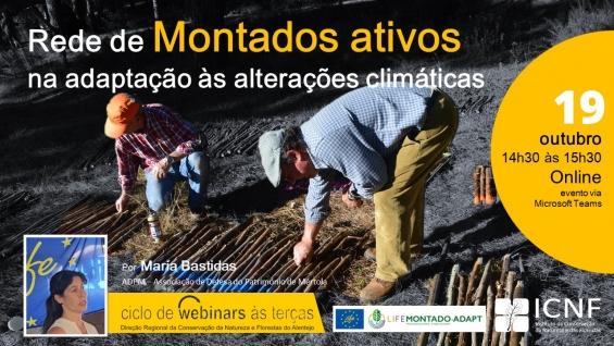 Ciclo Webinares às Terças | Rede de Montados Ativos na Adaptação às Alterações Climáticas