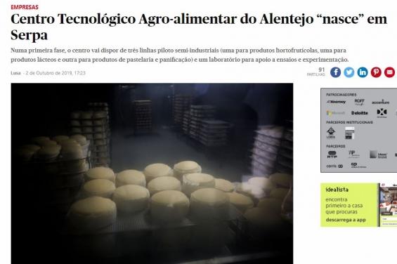 Criação de Centro Tecnológico Agroalimentar do Alentejo em destaque na imprensa