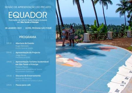 """Apresentação do Projeto """"EQUADOR – Promoção do turismo sustentável e inclusivo em São Tomé e Príncipe"""""""
