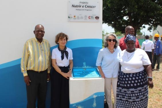 Secretária de Estado dos Negócios Estrangeiros e da Cooperação visita projetos da ADPM em Monapo