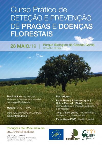 Estão abertas as inscrições para o Curso Prático de Deteção e Prevenção de Pragas e Doenças Florestais