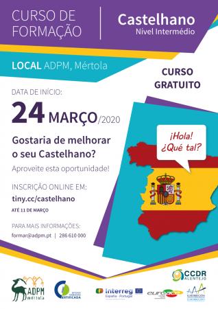 Estão abertas as inscrições para o Curso de Formação em Castelhano - Nível Intermédio