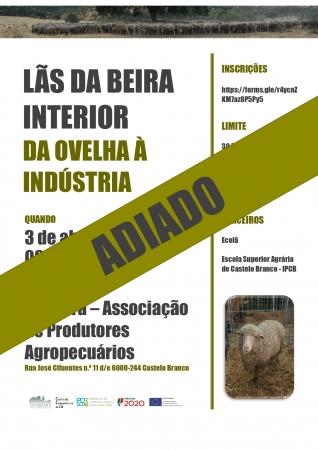 """Adiamento - Workshop """"Lãs da Beira Interior – Da Ovelha à Indústria"""""""