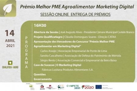 """Entrega de prémios """"Melhor PME Agroalimentar em Marketing Digital"""""""