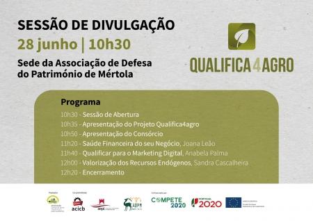 Sessão de Divulgação Qualifica4agro em Mértola