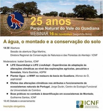 Webinar | 25.º Aniversário do Parque Natural do Vale do Guadiana