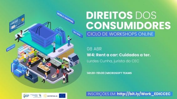 Workshop online   Direitos dos Consumidores   Rent a car: Cuidados a ter